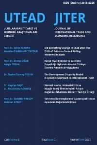 Uluslararası Ticaret ve Ekonomi Araştırmaları Dergisi