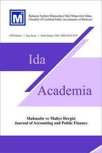 Ida Academia Muhasebe ve Maliye Dergisi