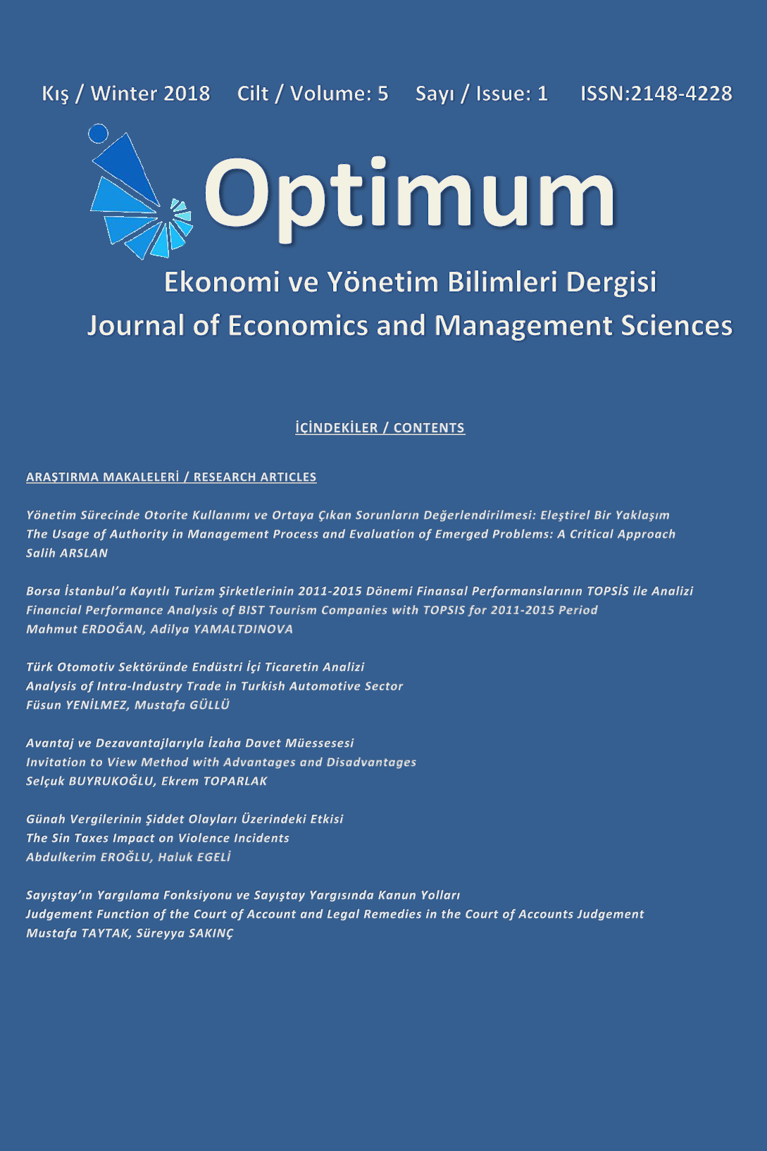 Optimum Journal of Economics and Management Sciences