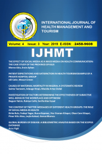 International Journal of Health Management and Tourism