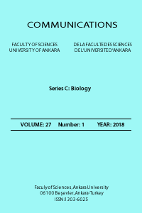 Communications Faculty of Sciences University of Ankara Series C  Biology