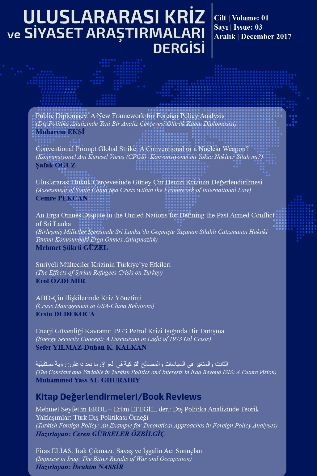 Journal of Crises and Political Research