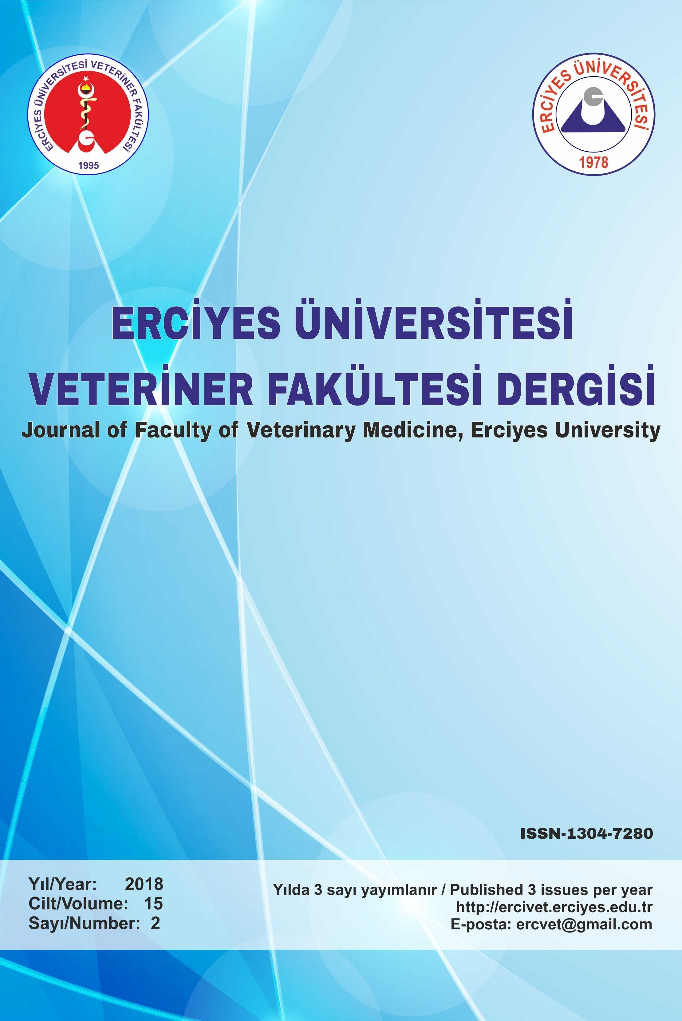 Journal of The Faculty of Veterinary Medicine Erciyes University