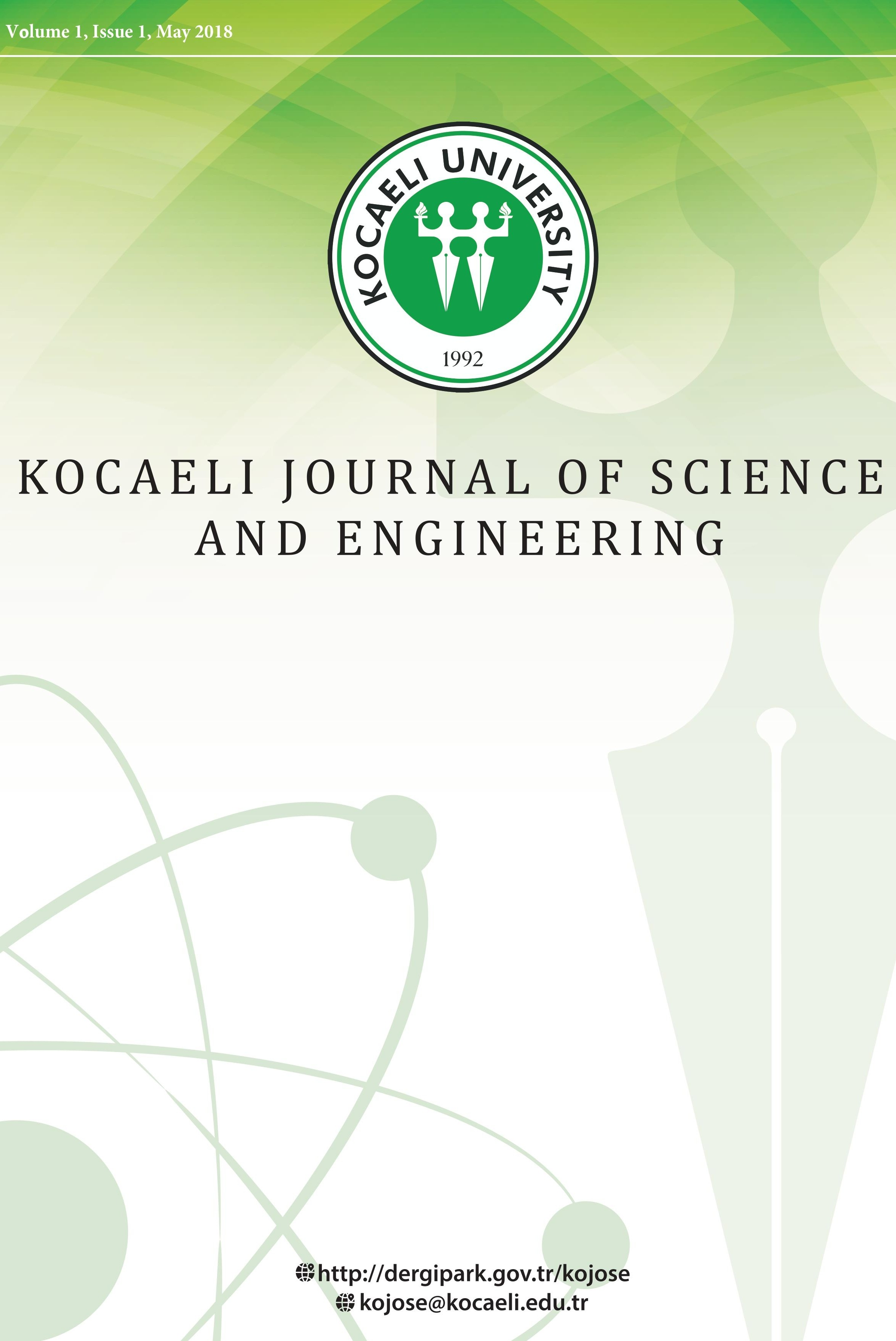 Kocaeli Journal of Science and Engineering