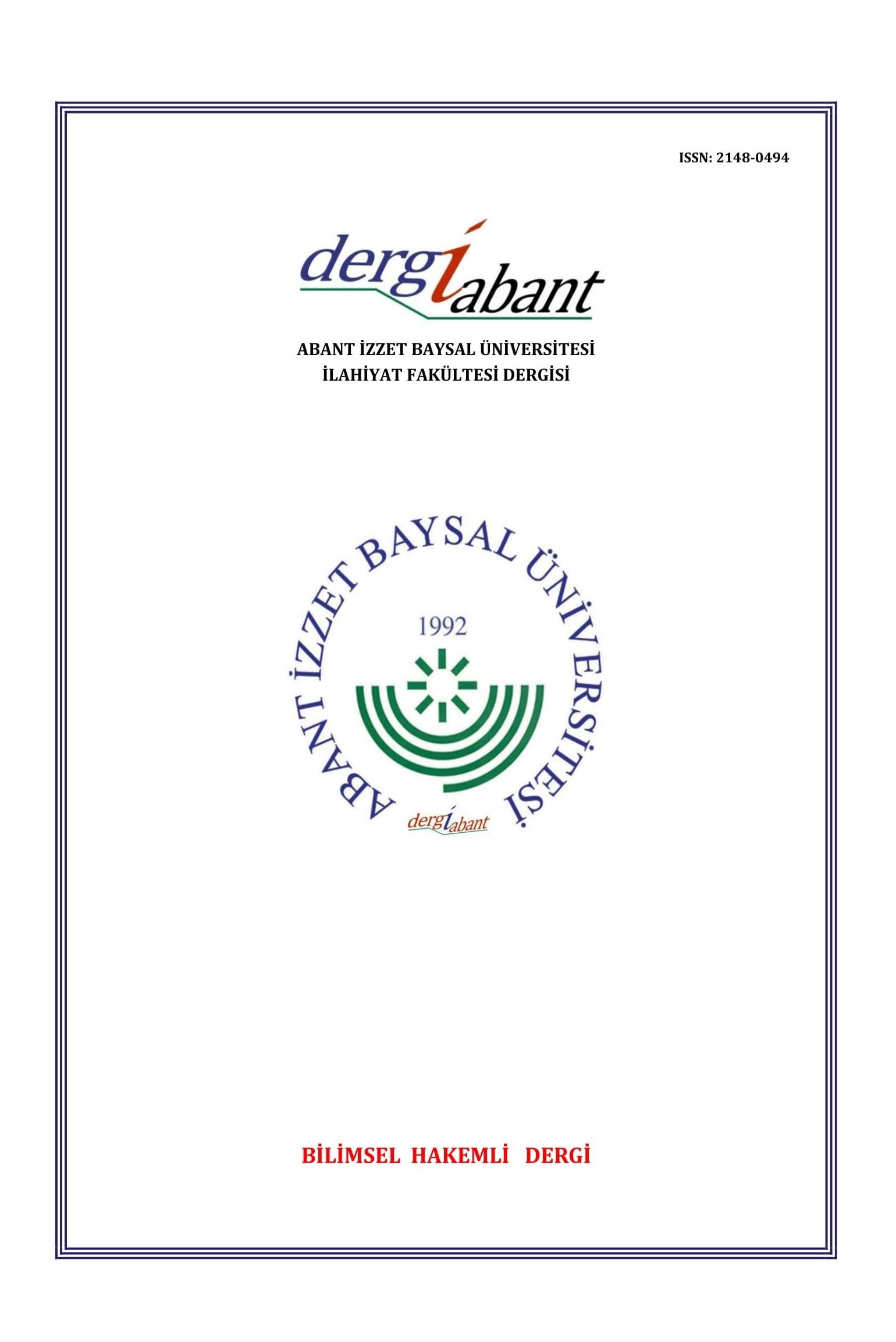 Abant İzzet Baysal Üniversitesi İlahiyat Fakültesi Dergisi
