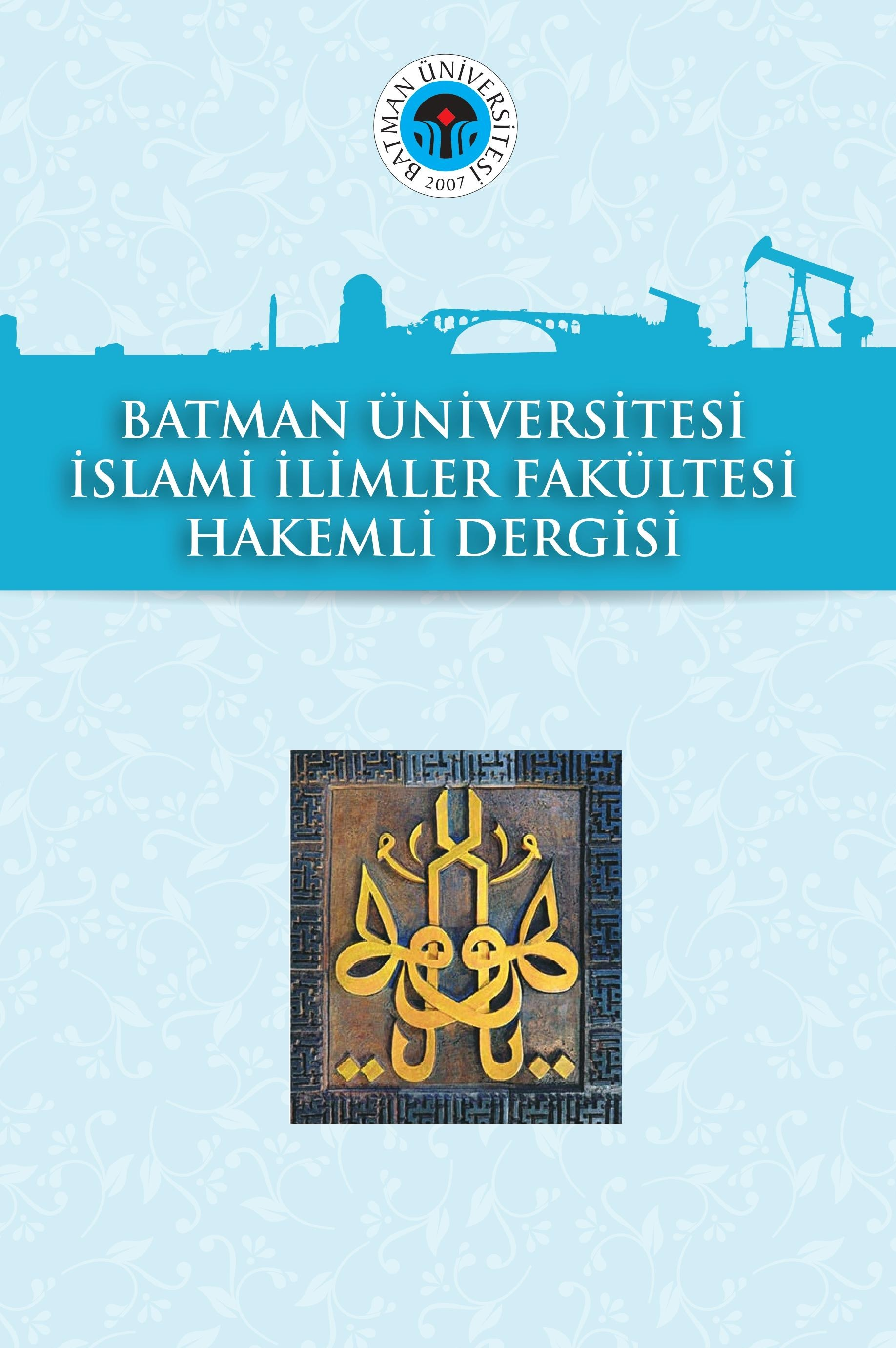 Journal of The İslamic Sciens Faculty of Batman University