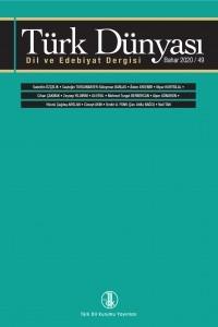Türk Dünyası Dil ve Edebiyat Dergisi