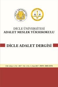 Dicle Üniversitesi Adalet Meslek Yüksekokulu Dicle Adalet Dergisi