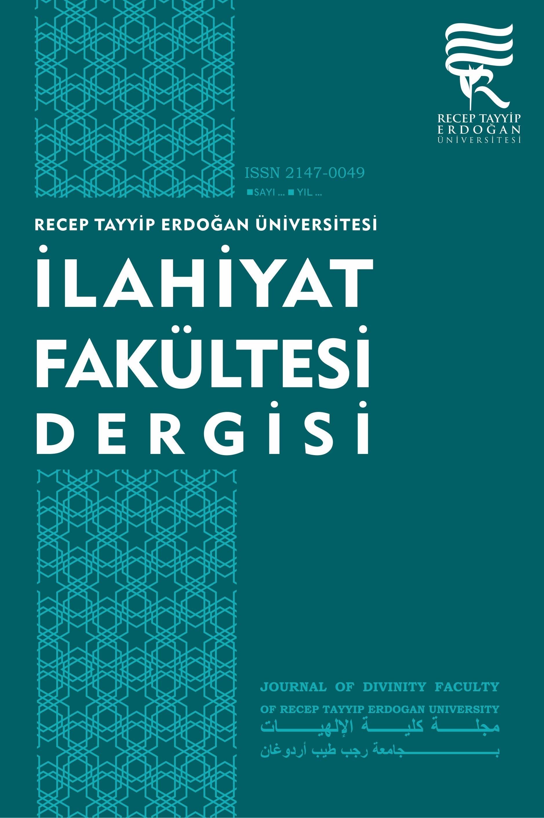 Journal of Divinity Faculty of Recep Tayyip Erdogan University