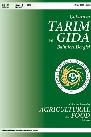 Çukurova Journal of Agricultural and Food Sciences