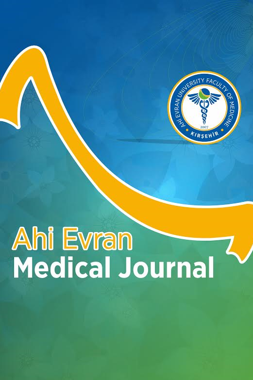 Ahi Evran Medical Journal