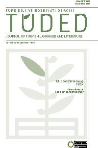 Istanbul University Faculty of Letters Journal of Turkish Language and Literature