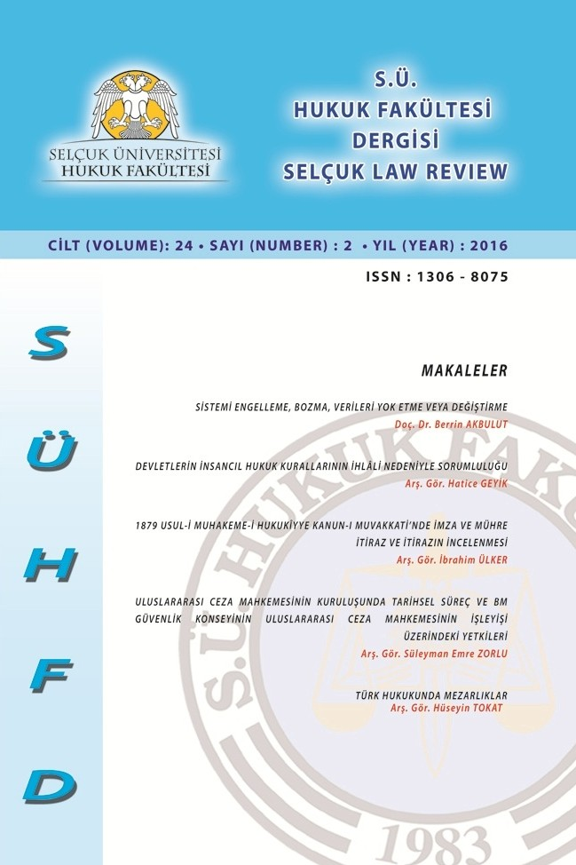 Selçuk Law Review