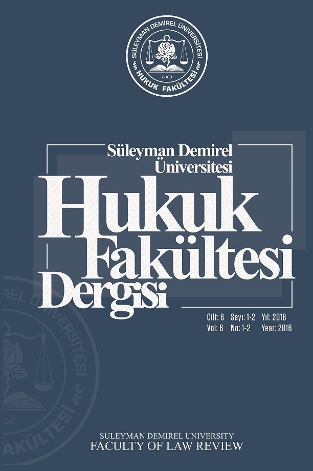 Suleyman Demirel University Faculty of Law Review