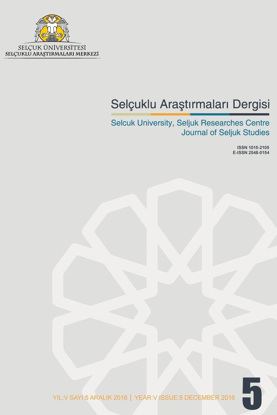 Selcuk University Journal of Seljuk Studies