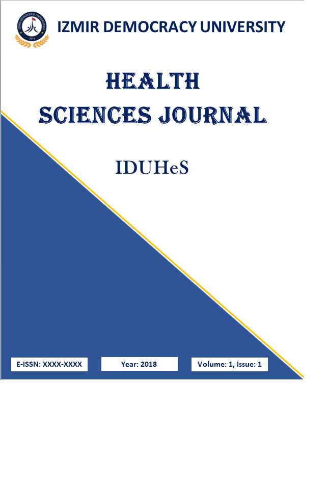 Izmir Democracy University Health Sciences Journal