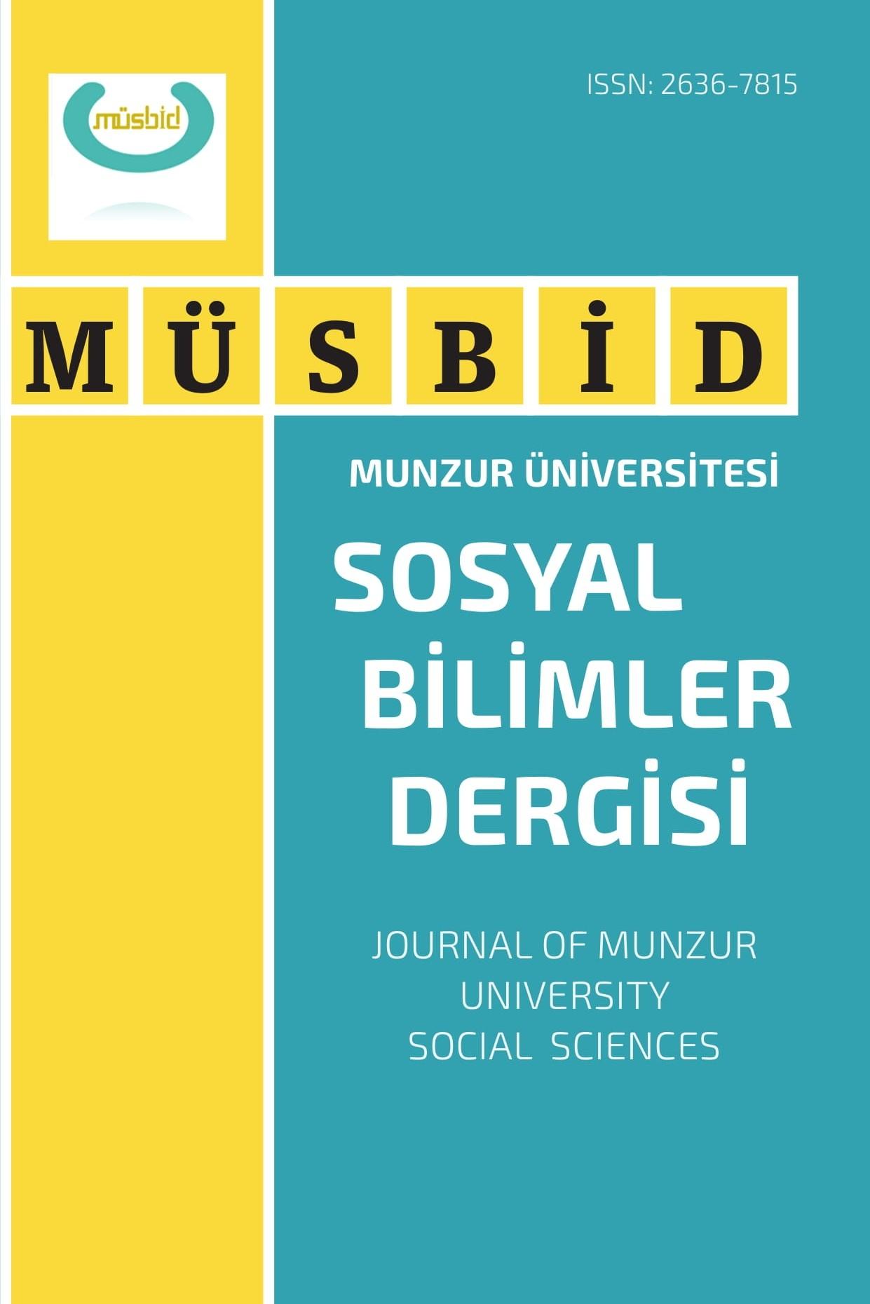 Munzur Üniversitesi Sosyal Bilimler Dergisi (MÜSBİD)
