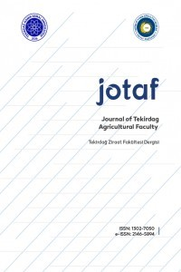 Journal of Tekirdag Agricultural Faculty