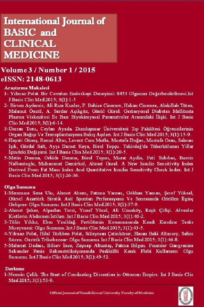 International Journal of Basic and Clinical Medicine