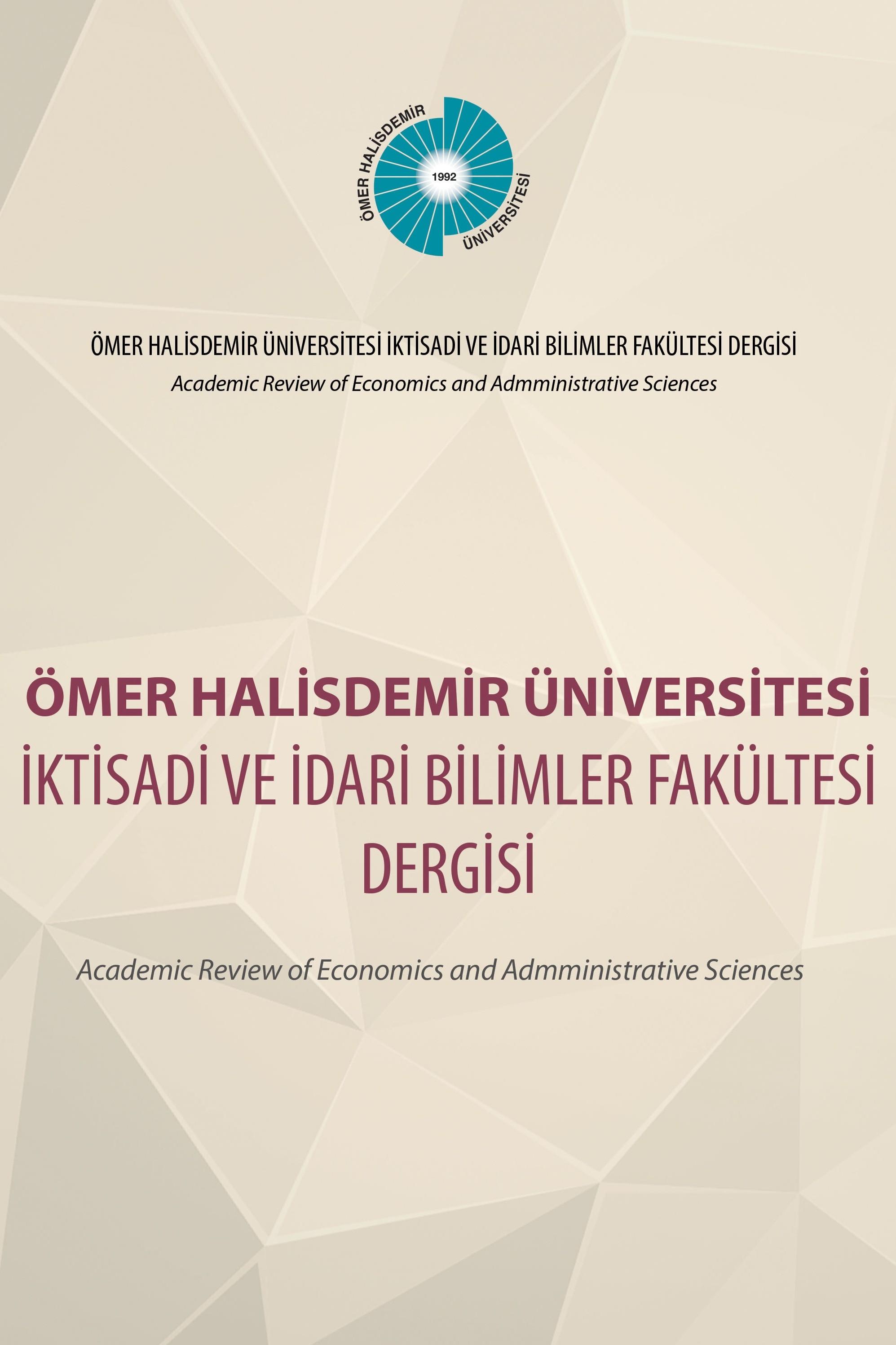 Ömer Halisdemir Üniversitesi İktisadi ve İdari Bilimler Fakültesi Dergisi