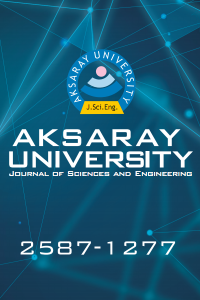 Aksaray University Journal of Science and Engineering
