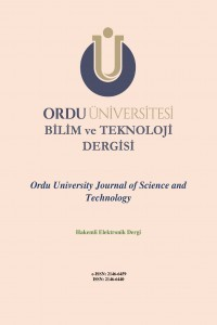 Ordu University Journal of Science and Tecnology