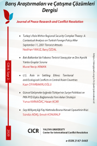 Barış Araştırmaları ve Çatışma Çözümleri Dergisi
