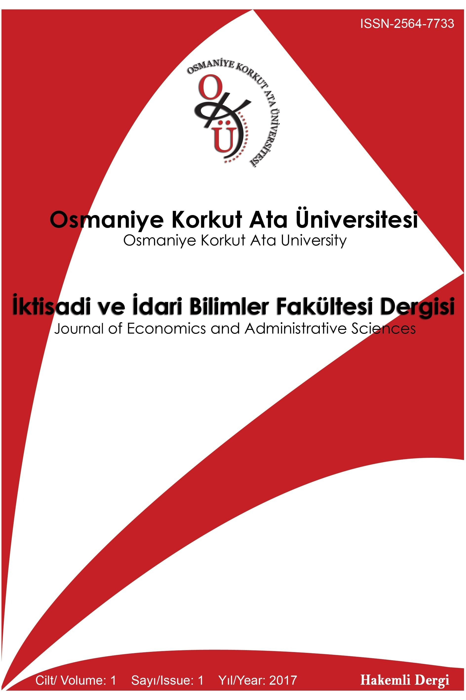 Osmaniye Korkut Ata University Journal of Economics and Administrative Sciences