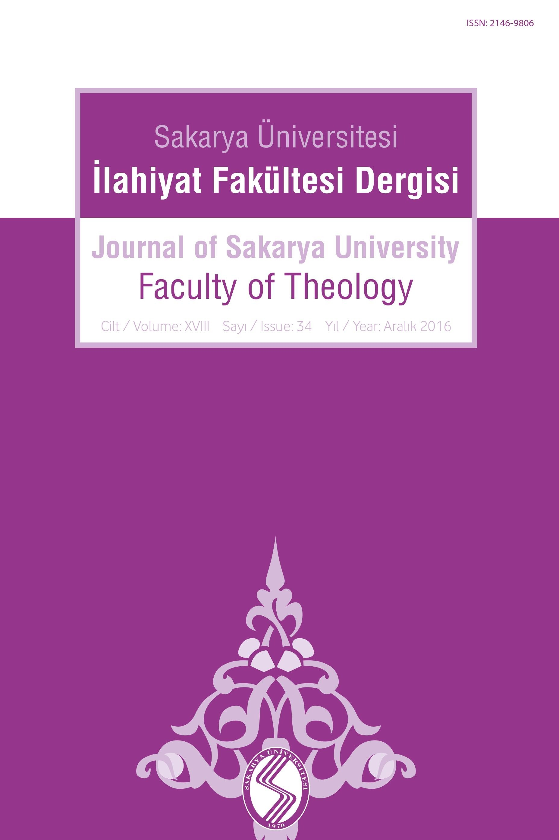 Journal of Sakarya University Faculty of Theology (SAUIFD)