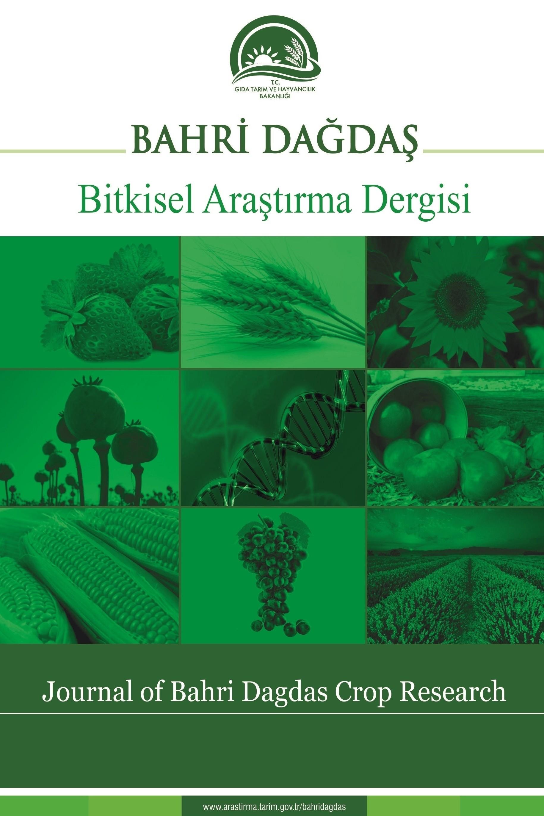Journal of Bahri Dagdas Crop Research