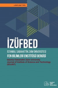 Istanbul Sabahattin Zaim University Journal of Institute of Science and Technology