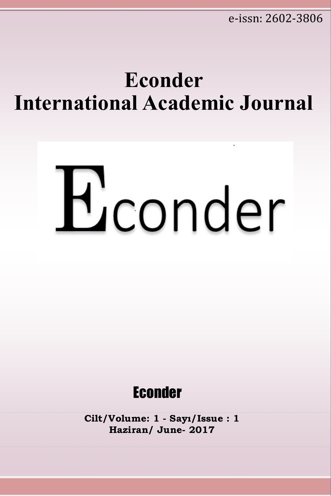 Econder International Academic Journal