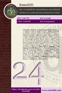RumeliDE Journal of Language and Literature Studies