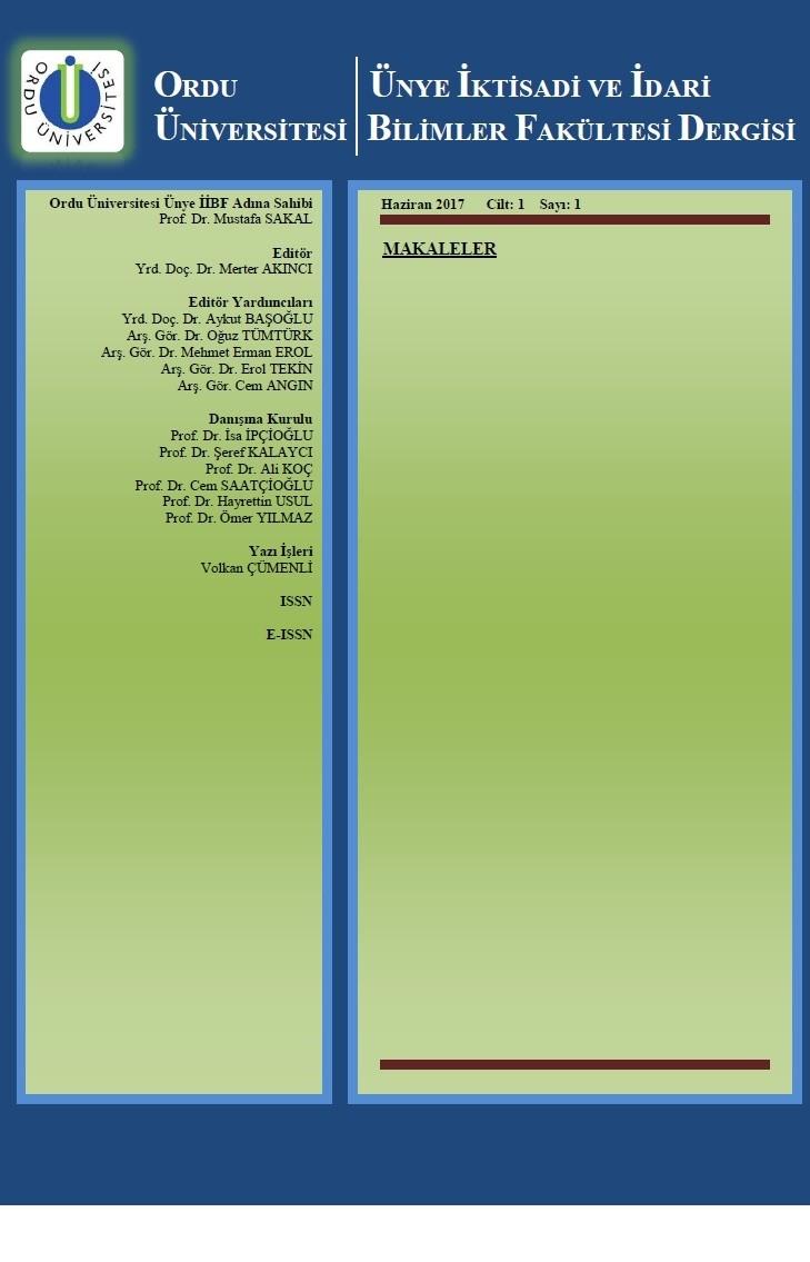 Ünye İktisadi ve İdari Bilimler Fakültesi Dergisi