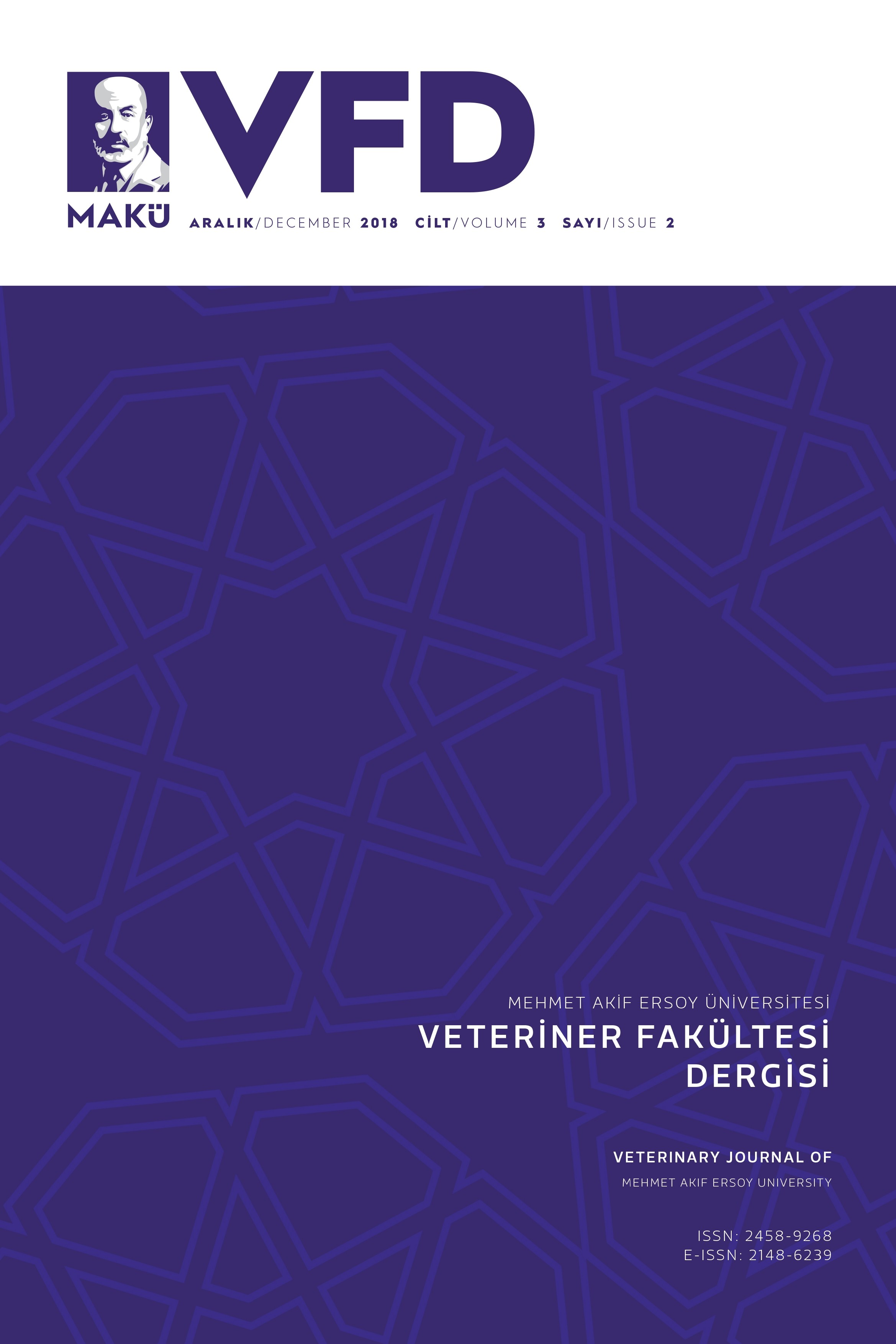 Veterinary Journal of Mehmet Akif Ersoy University