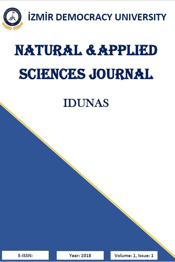Izmir Democracy University Natural and Applied Sciences Review