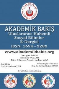 Akademik Bakış Uluslararası Hakemli Sosyal Bilimler Dergisi