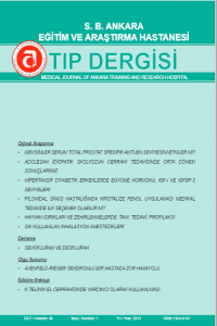 Medical Journal of Ankara Training and Research Hospital