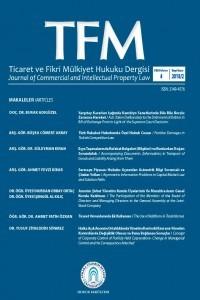 Ticaret ve Fikri Mülkiyet Hukuku Dergisi