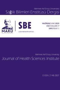 Mehmet Akif Ersoy Üniversitesi Sağlık Bilimleri Enstitüsü Dergisi