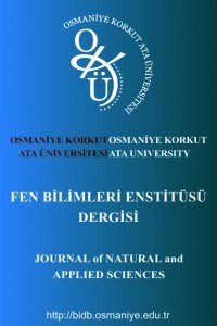 Osmaniye Korkut Ata Üniversitesi Fen Bilimleri Dergisi