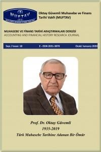 Muhasebe ve Finans Tarihi Araştırmaları Dergisi