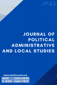 Journal of Political Administrative and Local Studies