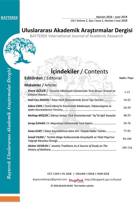 Bayterek Journal of International Academic Research
