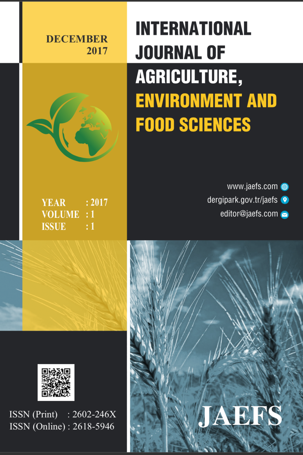 International Journal of Agriculture Environment and Food