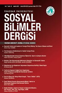 Üsküdar Üniversitesi Sosyal Bilimler Dergisi