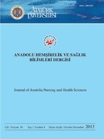Journal of Anatolia Nursing and Health Sciences