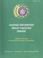 Akdeniz University Journal of the Faculty of Agriculture